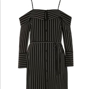 Pinstripe Midi Shirtdress TOPSHOP